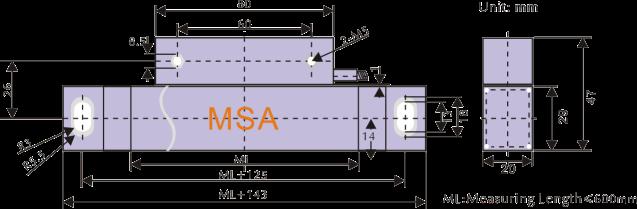 Resolution 0.5um Linear Encoder for Dimensional Measurement