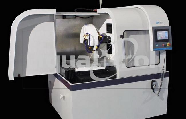 Double Cutting Wheel Automatic Specimen Cutting Machine with Water Cooling