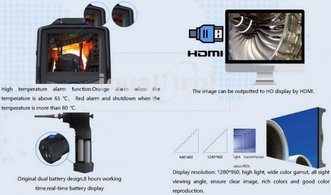 Infrared Security Video Borescope with Auto White Balance Support 18 Meters Night Vision