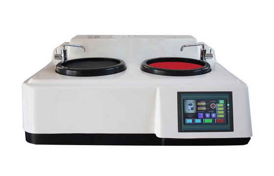 Touch Screen Double Disc Metallographic Grinding and Polishing Machine Four Steps Speed