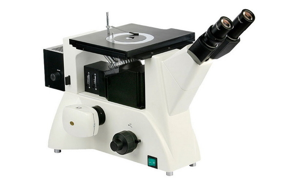 DIC Trinocular Inverted Metallurgical Microscope with UIS Optic System and Wide Field Eyepiece