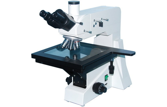 China Wide-field Eyepiece Trinocular Reflected Upright Metallurgical Microscope with Polarizer Device supplier