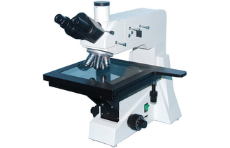 Wide-field Eyepiece Trinocular Reflected Upright Metallurgical Microscope with Polarizer Device