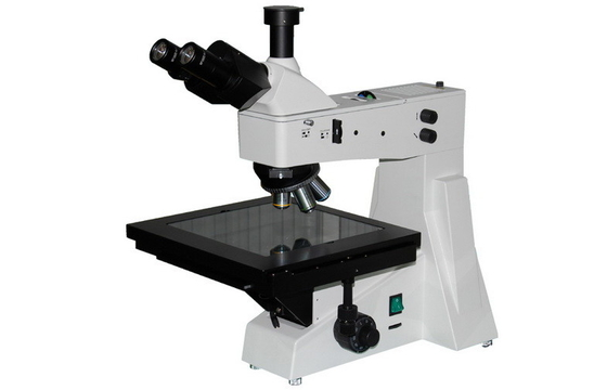 China Halogen Lamp Upright Trinocular Metallurgical Microscope with DIC And Infinity System supplier
