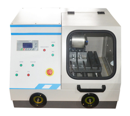 Q-80Z Automatic / Manual Metallographic Cutting Machine with Water Cooling Speed 10mm/min
