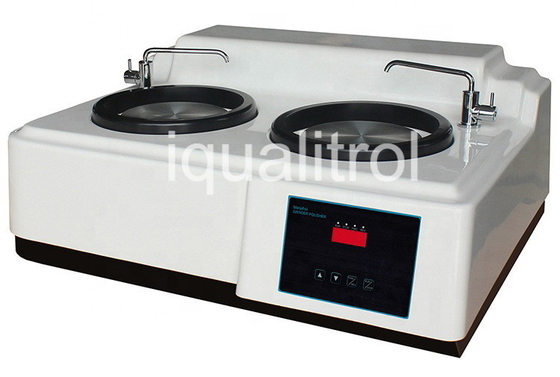 Stepless Speed 50-600rpm Metallographic Grinding and Polishing Machine with Double Disc