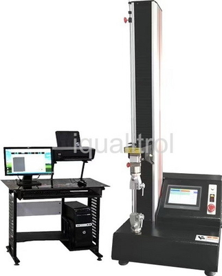 China Touch Screen Microcomputer Single Column Tensile Testing Machine with Stroke 1200mm supplier