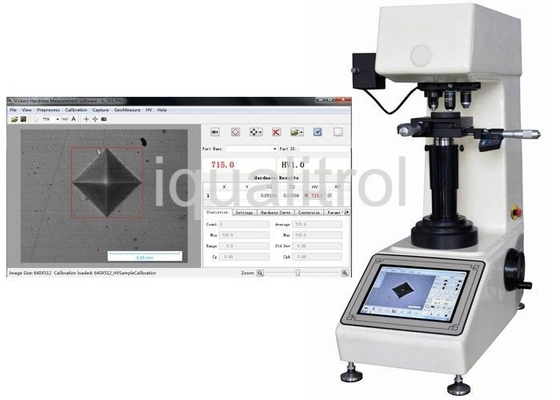 China 50Kgf Vickers Hardness Testing Machine with Touch Controller and Internal Vickers Software supplier